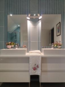 Double vasque au premier étage